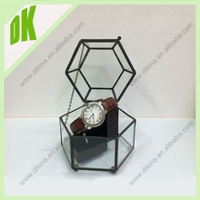 ^^^ Little feet to protect your table or vanity. Anniversary Gift -- Gift for Bride // geometric glass diamond display box