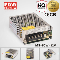 ac dc mini size MS-50-12 CE 50w meanwell 12v 4.2a switch power supply