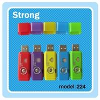 Small USB dynamo lighting set flashlight LED mini torch