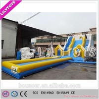 Newest design bouncy cheap selling giant inflatable water slide for sale