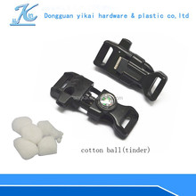 various types side release buckle,plastic fire starter for survival kits
