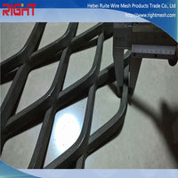 Top Seller Black Steel Flattening Architectural Expanded Metal Wall Cladding