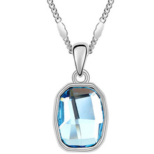 Fashion Accessories Rhodium Plated Women Necklace Made With Swarovski Elements