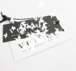 Silk Screen Print Custom Logo Thick Card Woman Garment Apparel Tags