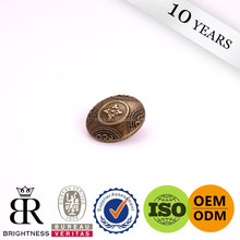 Embossed logo fur coat fasteners buttons Brightness A4-80132