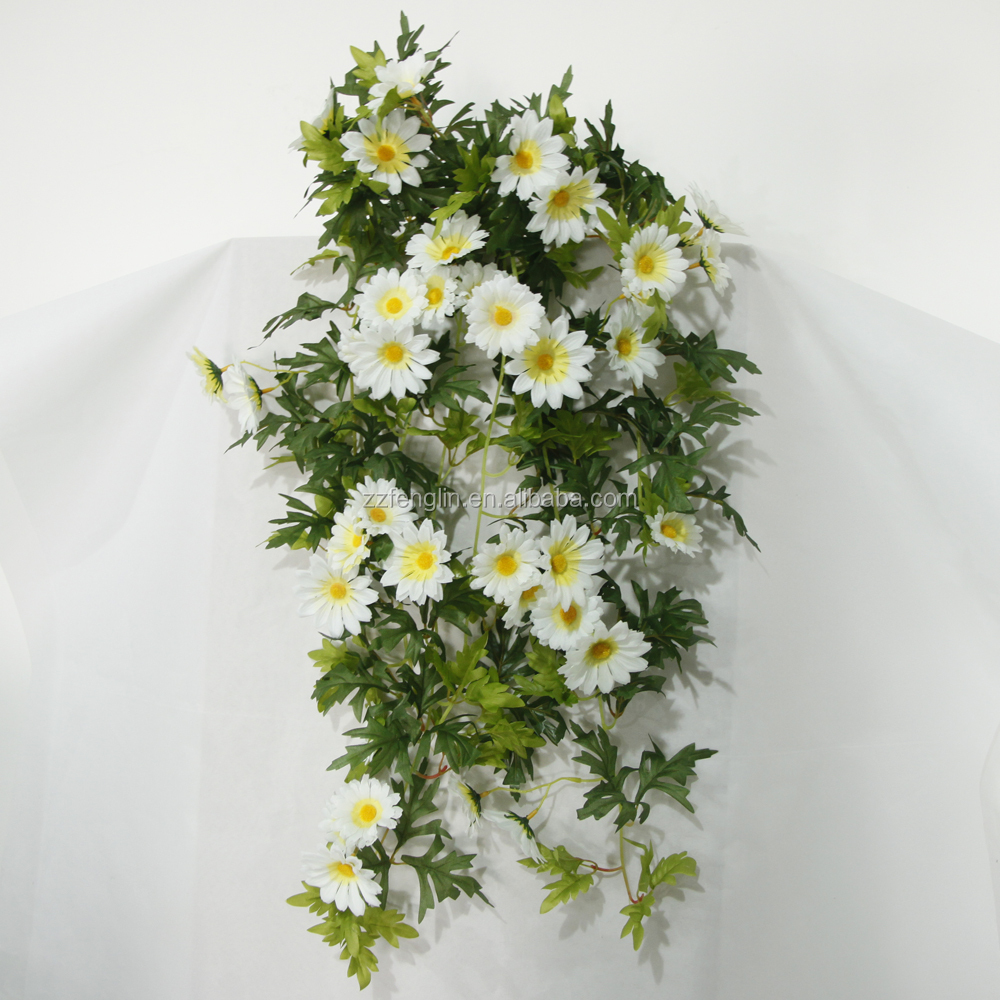 High Quality Wall Hanging Decorative Artificial Silk Daisy Flower