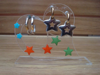 clear acrylic girls cute earring holder