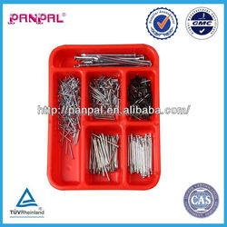 ISO9001 Supply 500pcs Steel Wire Nail And Round Nail Kit