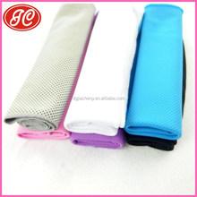 80*30cm Summer sport cool towel, cool silk 100% cooling towel