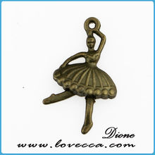 Factory direct alloy ballet girls pendant / alloy pendant / alloy charms