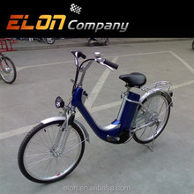 cheap and fine double kick stand electrical bicycle(E-TDH005Z blue)