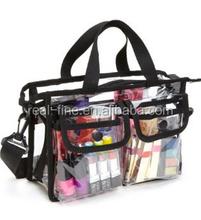 Makeup Artist Clear PVC Set Bag w/ Removable Shoulder Strap