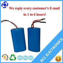 Ror alarm LED 2200mAH 7.4v icr 118650 battery pack