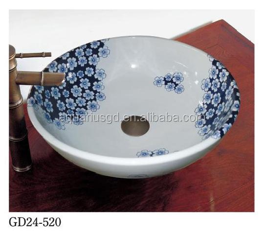 Ceramica decorata mobiletto del bagno grande blu arte - Mobiletto del bagno ...