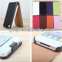 up down filp leather cover for apple iphone 4/4s, leather cell phone cover for apple iphone 4/4s