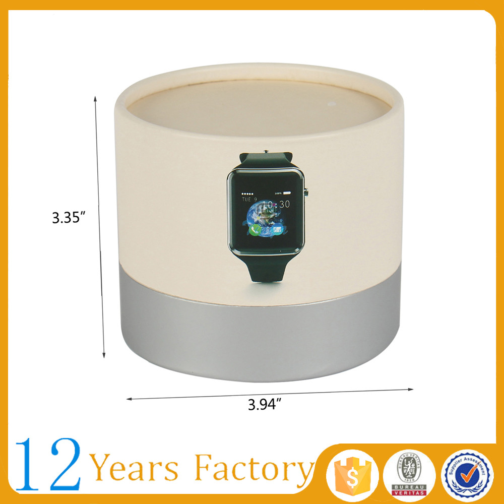 wholesale round cylinder cardboard packaging smart watch boxes