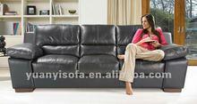 2012 living room black leather sofa set YYL2008