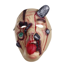 SCARS OF WOUNDS FACE MASK MENS SCARY ZOMBIE CUT STAPLED FACE DELUXE LATEX HORROR HALLOWEEN FACE MASK NEW