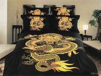 100% cotton adult dragon printed bedding set