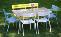 OEM and ODM Antirust Metal Garden Chair Sets, Aluminum Outdoor Furniture