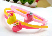 candy color baby hairbands Hair hoop head band heart flower multicolor