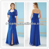 ME-284 Royal blue lace mother of the bride dresses with jacket