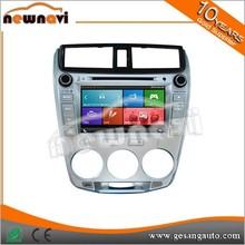 car DVD gps player car video for honda City 2008-2012 with HD 1080P BT DVR 3G WIFI AM/FM IPOD TV Tuner