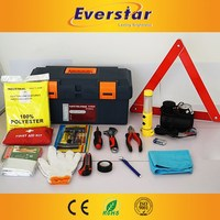 Safety Car Emergency Tool Kit with Air Compressor and Safety Hammer