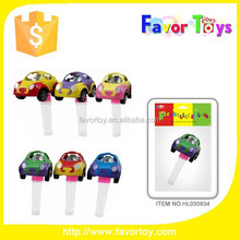 Wholesale Plastic Pullback Car Racers Candy Toy for promotion.
