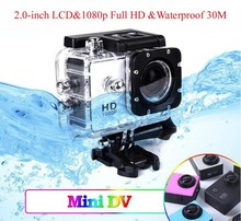 Hot Selling Outdoor Waterproof Action Sport Camera 1080p sports camera sj6000, 30m waterproof extreme