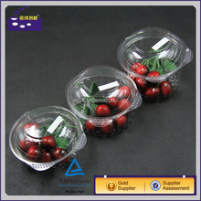 custom PET white clear transparent food box tray fruit packaging cherry