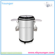 portable refrigerators with wheels/Commercial Round Barrel Electric Beverage Party Cooler/outdoor portable can cooler fridge for