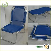 Alum.+ texlene multiple fuctional folding beach chair/portable bed camping