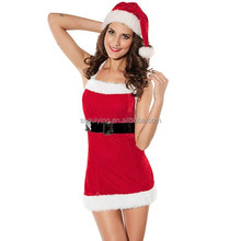 Hot Sale Lady Christmas Costumes Adult Red Christmas Costumes