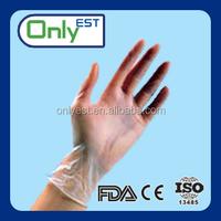 """9.0""""length non-sterile white vinyl gloves disposable vinyl gloves cheap gloves food/industrial grade"""