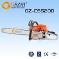 A gasolina motosserras chinês 52cc equipamentos florestais realmente de alta qualidade exportados ce gs emc padrão cs-5200