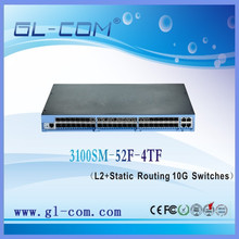 Network Management 48 Port Fiber Optic Switch 52GE SFP L2 Static Routing 10G Switches