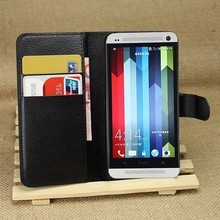 Flip PU Leather Wallet Case For HTC One M7