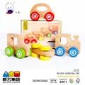 color madera 4 vehículos pcs set nuevo 2015 juguetesdemadera