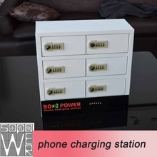 2015 new arrival smart locker phone charging station 9v battery charger