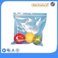 High quality LDPE Clear zippered plastic storage bag wholesale