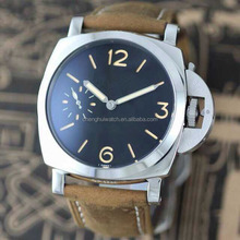 stainless steel watch army style strong luminous and small second left side mechanical movement for men branded logo or OEM