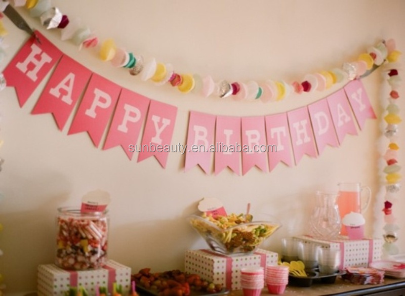 Letter Banner Happy Birthday Decoration Items View Birthday Decoration