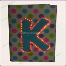 gift carbon paper notebook with led fiber cover