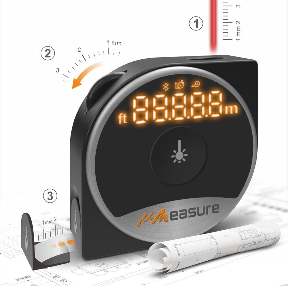 Smart home use medida medidor de distância a laser com corda sling estique slide roda