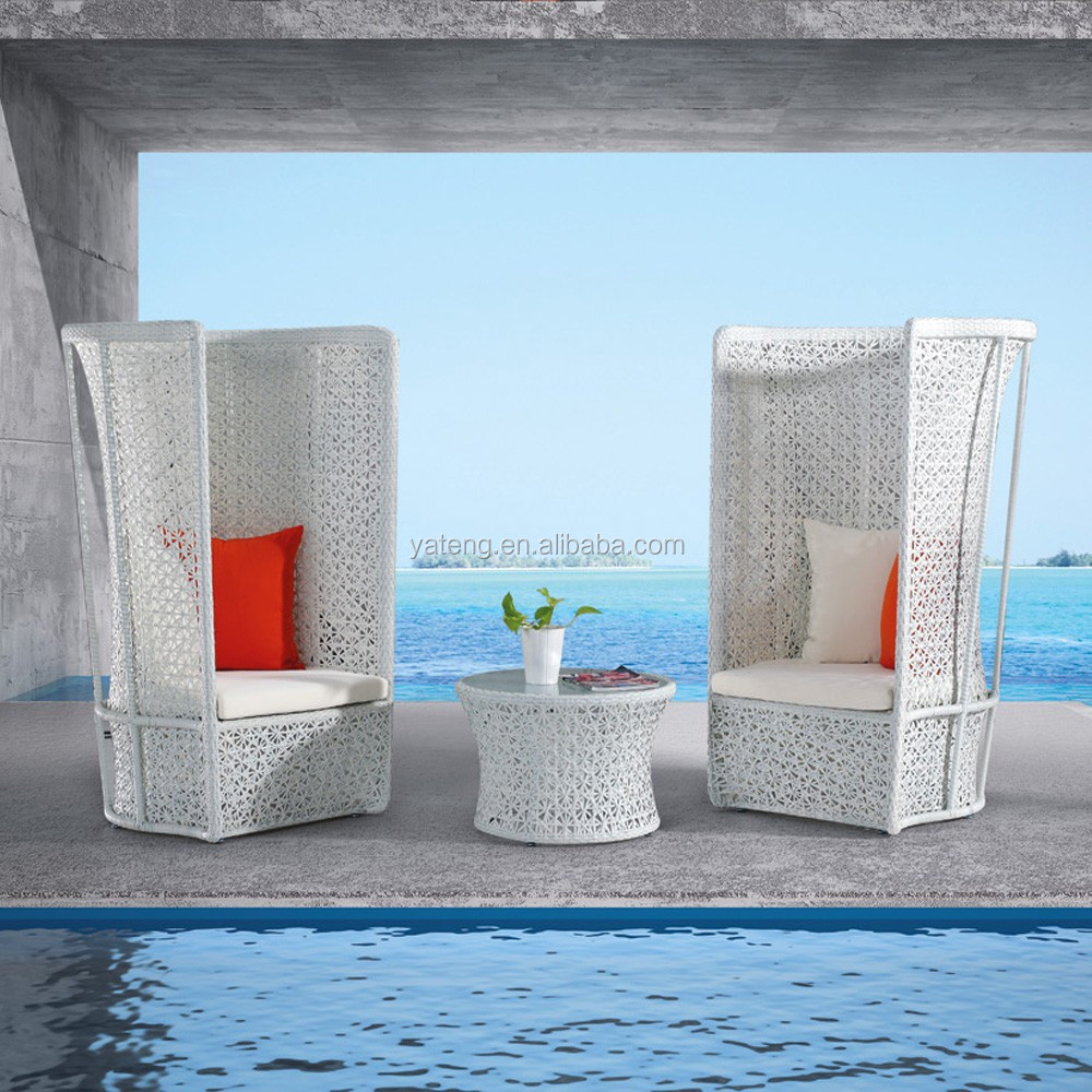 White rattan outdoor furniture jakarta sofa commercial for Outdoor furniture jakarta
