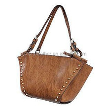 HOT SELL GOOD QUALITY SMART STYLE PU HANDBAG WITH STUDS BAG IN BAG
