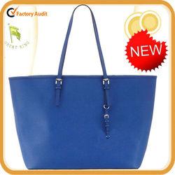 high quality genuine leather saffiano big travel handbag for tall women