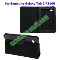 Flip Leather Cover Case for Samsung Galaxy Tab 2 Back Cover