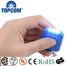 On Advertisement Environment protecting 3 LED Solar torch key chain/Mini LED Flashlight KeyChain with solar panel